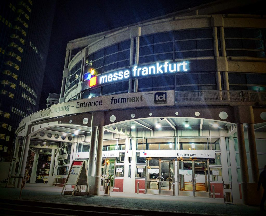 Messe Frankfurt, home to formnext 2016, will also hold this year's trade show. Photo by Michael Petch