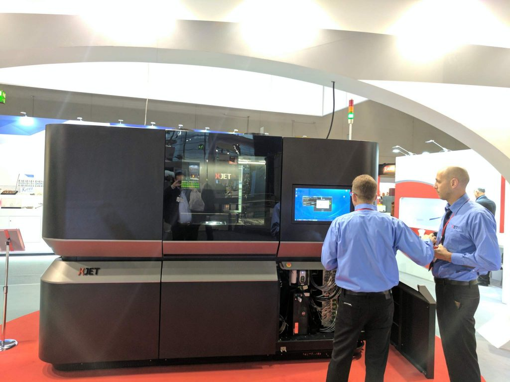 XJet are at the fair promoting their ceramic and metal printing. Image via: Michael Petch for 3DPI