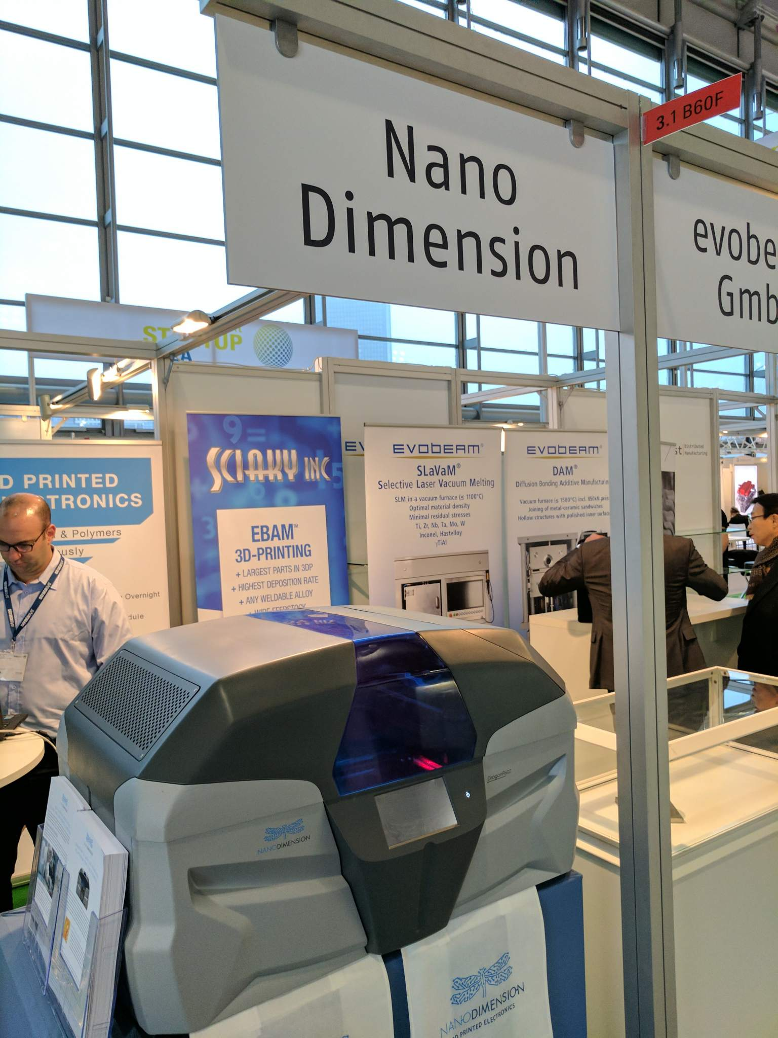 Nanodimensions at Formnext 2016 in Frankfurt, Germany Photo via: Michael Petch for 3DPI