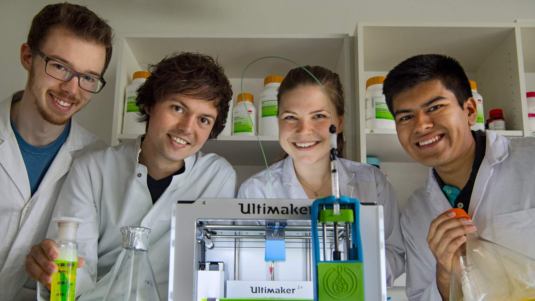 Part of the research team: Julian Hofmann, Christoph Gruber, Luisa Krumwiede and Javier Luna Mazari. Image via: Technical University of Munich