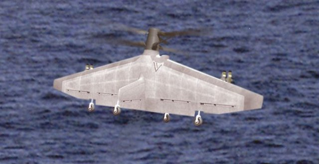 Visualization of the Tern in flight. Image via DARPA.