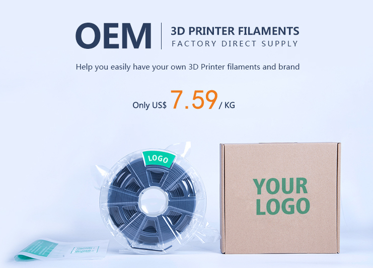 OEM 3D printer Filaments Image via: Winbo