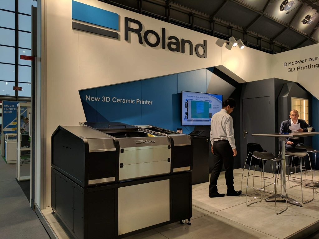 Roland AG ceramic 3D printer. Photo by Michael Petch.