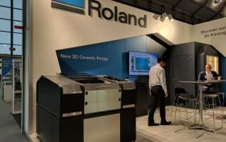 Roland AG ceramic 3D printer. Photo by Michael Petch.