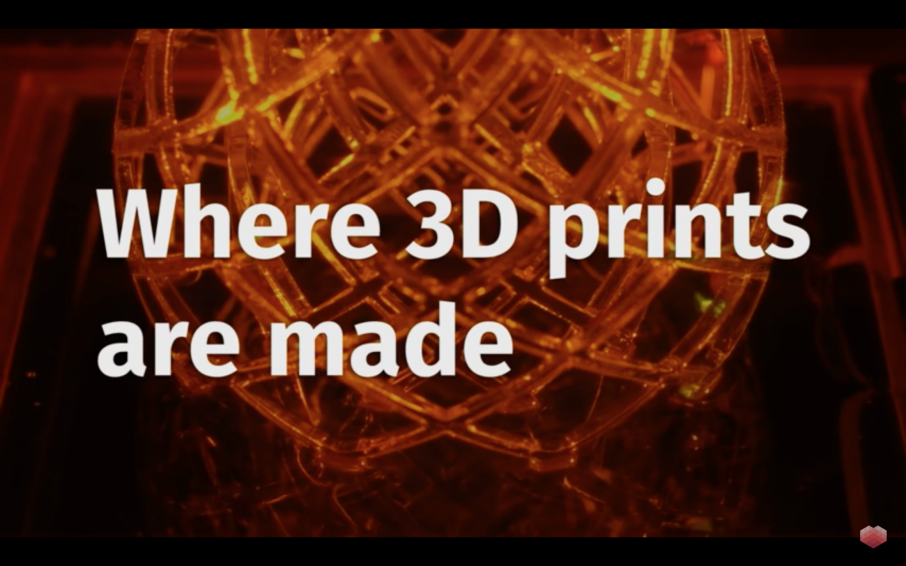Featured image is a screenshot from 3D Hubs' Youtube video 'Where 3D prints are made'. It shows a meshed globe produced via vat photopolymerisation.