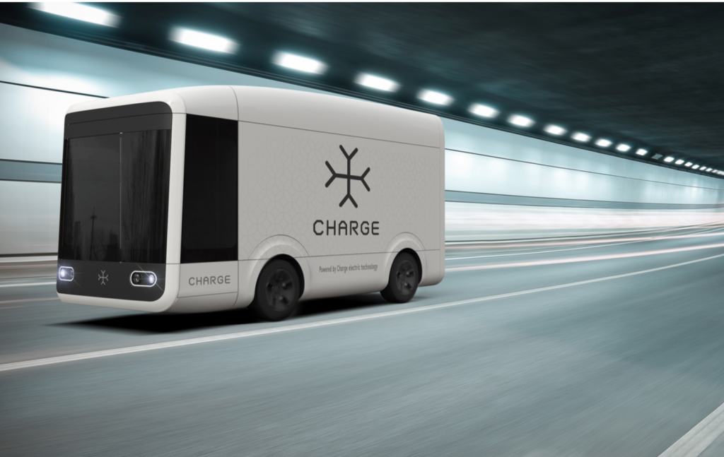 The autonomous and electronic van from Charge. Image via: Charge.auto