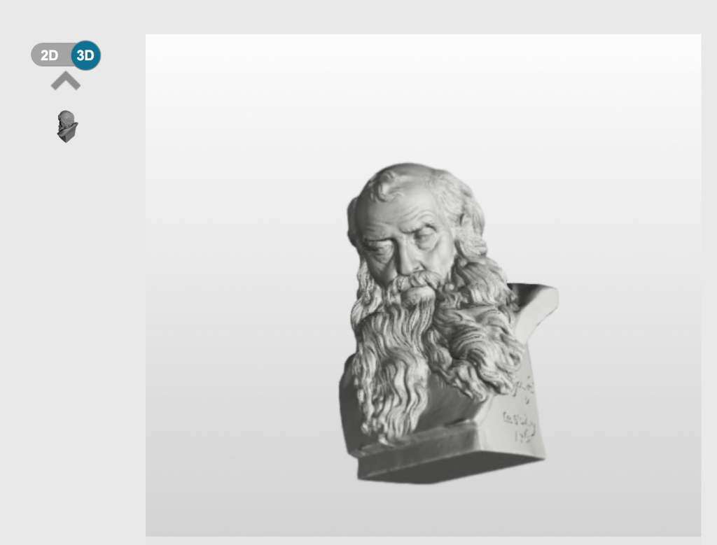 All of Scan the World's 3D models are able to view and manipulated in 3D within your browser. Image via: MyMiniFactory