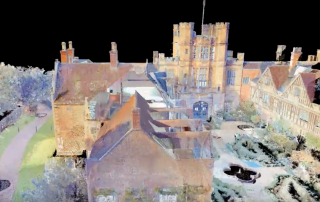 A scan of Coughton Court in color. Screenshot via: Lukasz K Bonenberg on Youtube.