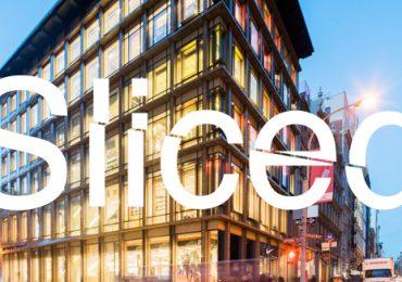 Sliced logo on image of the Nike store in Soho NY. Original photo: Nike
