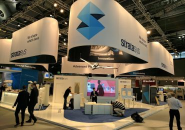 Stratasys booth at formnext-2016. Photo by Michael Petch