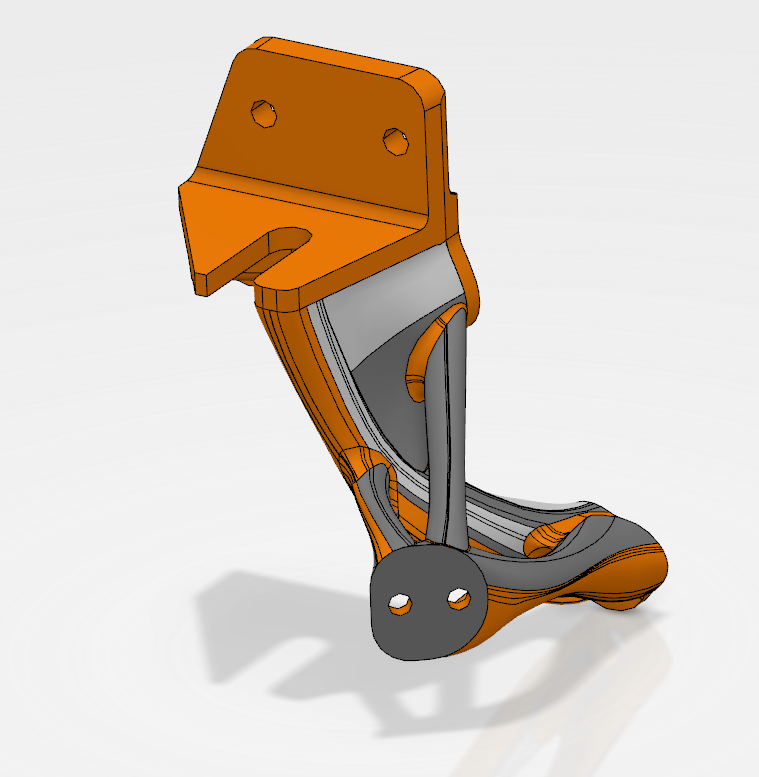 The design of the 3D printed bracket. Image via 3D Hubs.