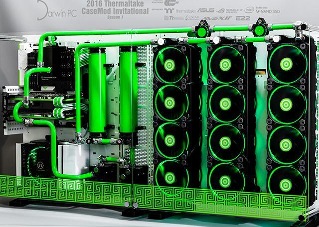 A Thermaltake Core P5 case by Adam Braithwaite, UK Photo via: Thermaltake Modder Album