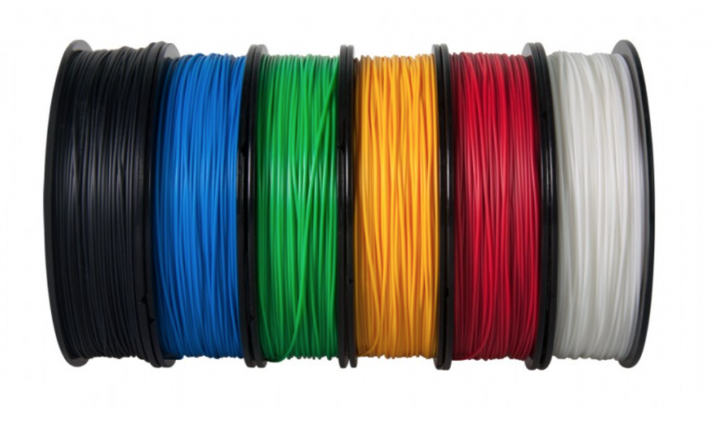 Multicolored spools of ABS Up filament. Photo via: iMakr