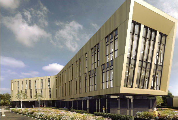 Render of the New Institute. Image via: Nottingham Post