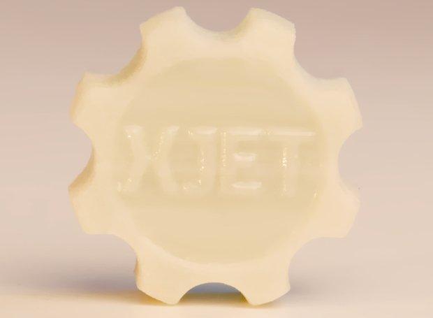 3D printed ceramic XJet gear Image via: TCT Magazine