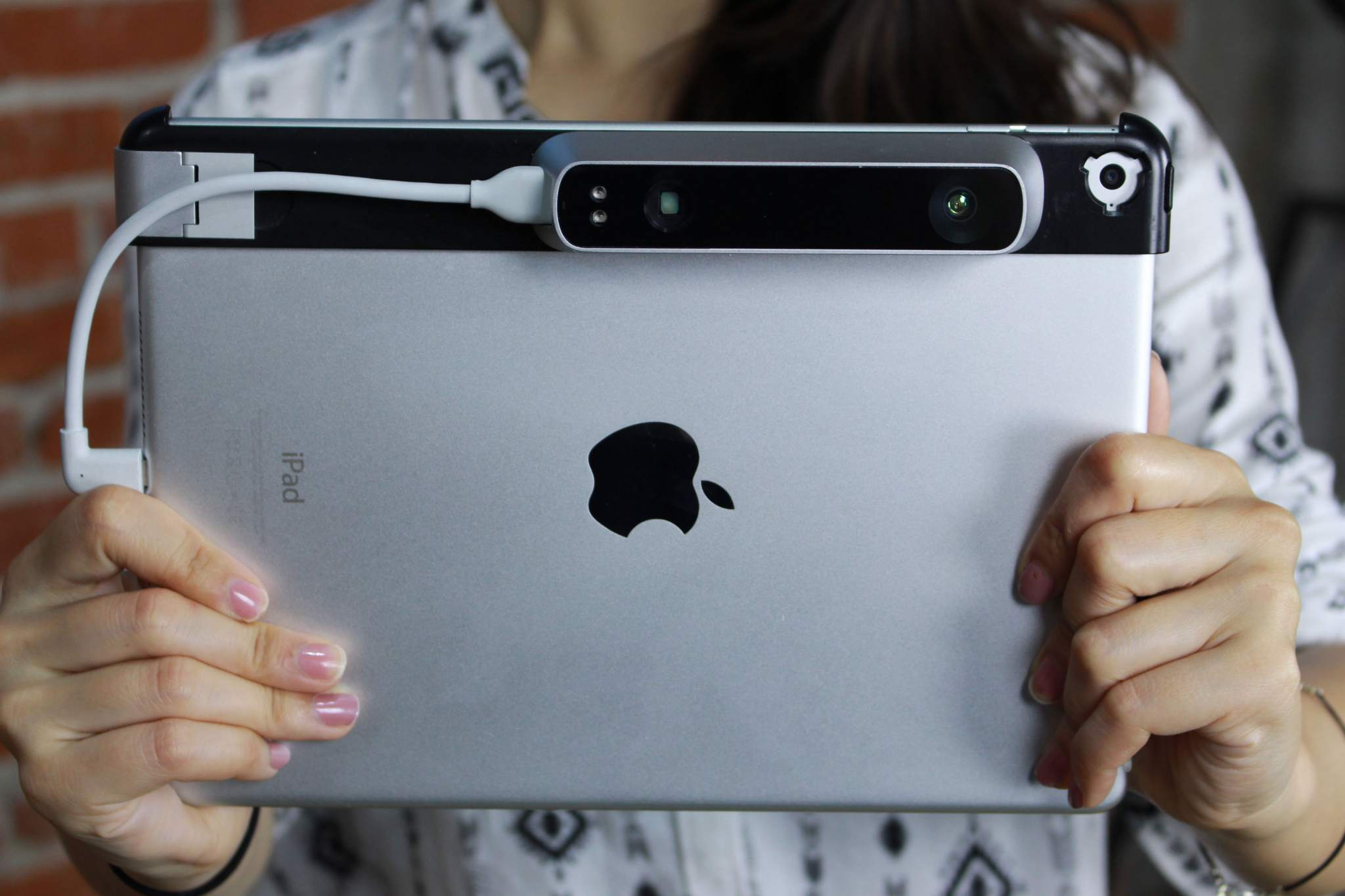 iPad with Structure sensor attached. Image via Occipital.
