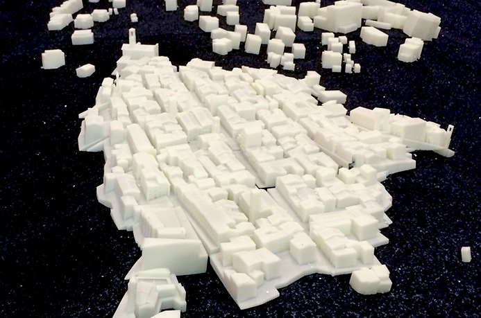 DWS' 3D printed Amatrice model Photo via: DWS