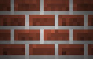 Brick texture in Minecraft. Image via: Mojang