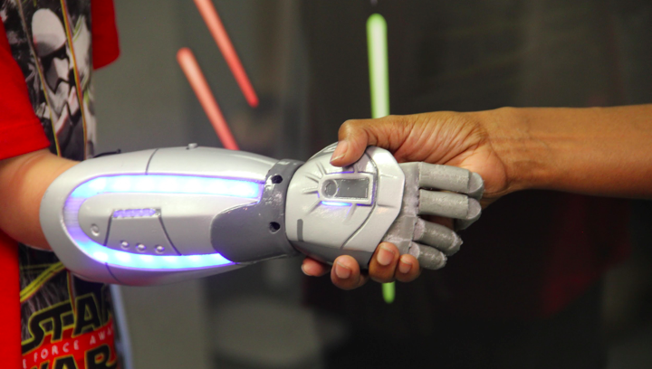 An Open Bionics superhero arm. Image via Open Bionics