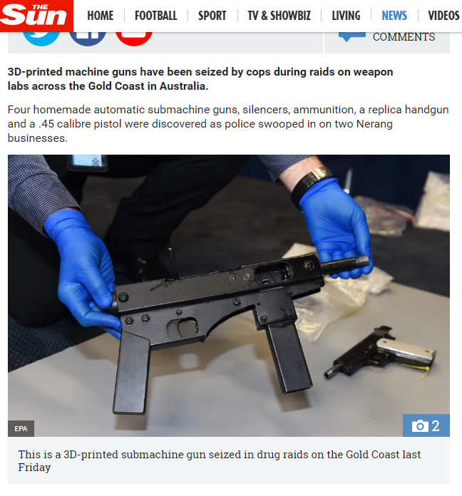 This is not a 3D printed gun.