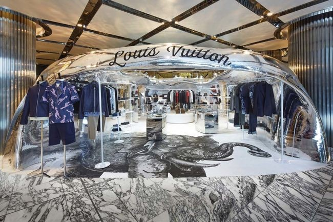 The Louis Vuitton pop-up shop in Sydney. Photo via Louis Vuitton.