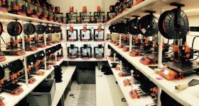 One of Prusa's 3D printer farms. Photo via: josefprusa on Twitter