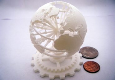 A 3D printed steampunk world designed and printed by Mauricio Chong. Photo via: macburro on Shapeways