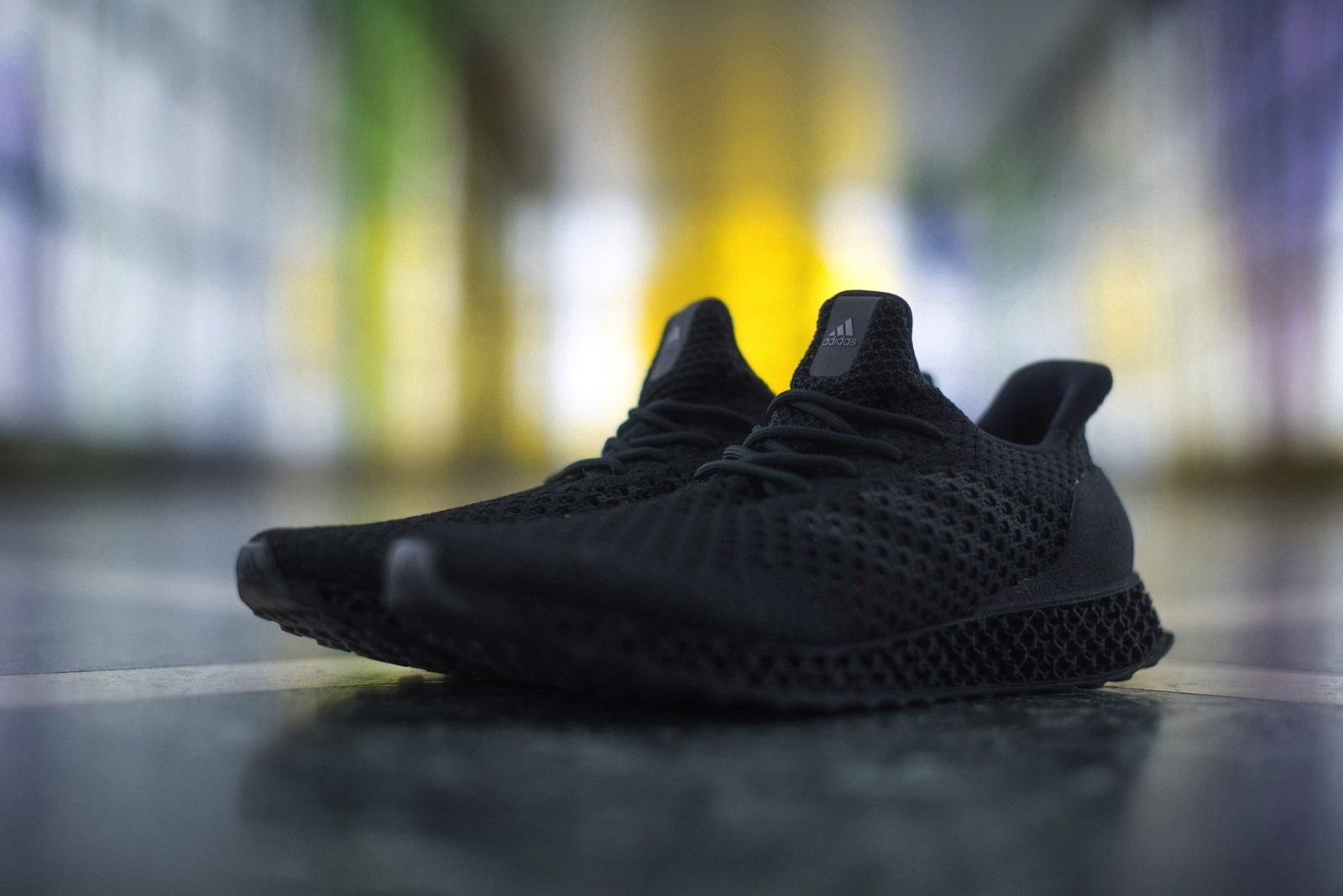 The Adidas 3D printed runner. Photo via Engadget.