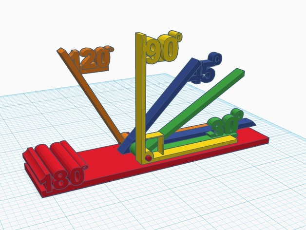 Teach Angles by Making a Modular Protractor! by carlosvaras on Thingiverse