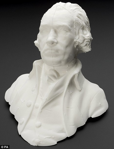 Bust created through modern 3D technology. Image via The History Blog