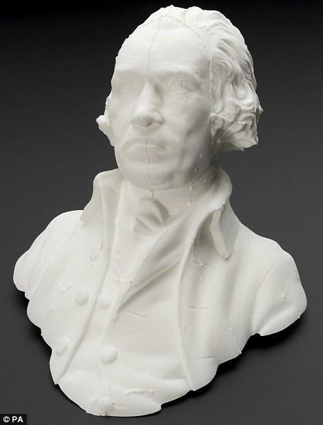 Bust created through modern 3D technology. Image via The History Blog