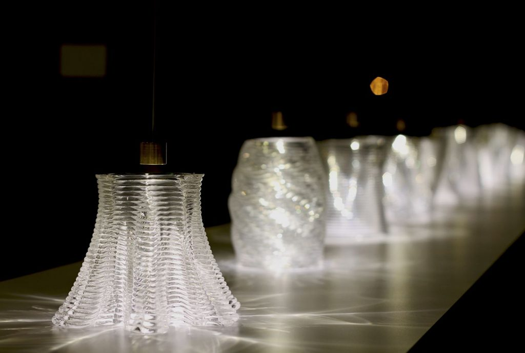 3D printed caustic patterns glass from Neri Oxman & MIT. Photo by: Chikara Inamura