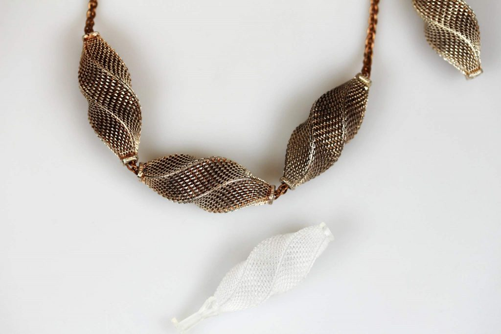 High-resolution necklace prototypes by DWS Industrial 3D printers Photo via: DWS