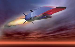 The X-51A Waverider concept for hypersonic flight.  (U.S. Air Force graphic)