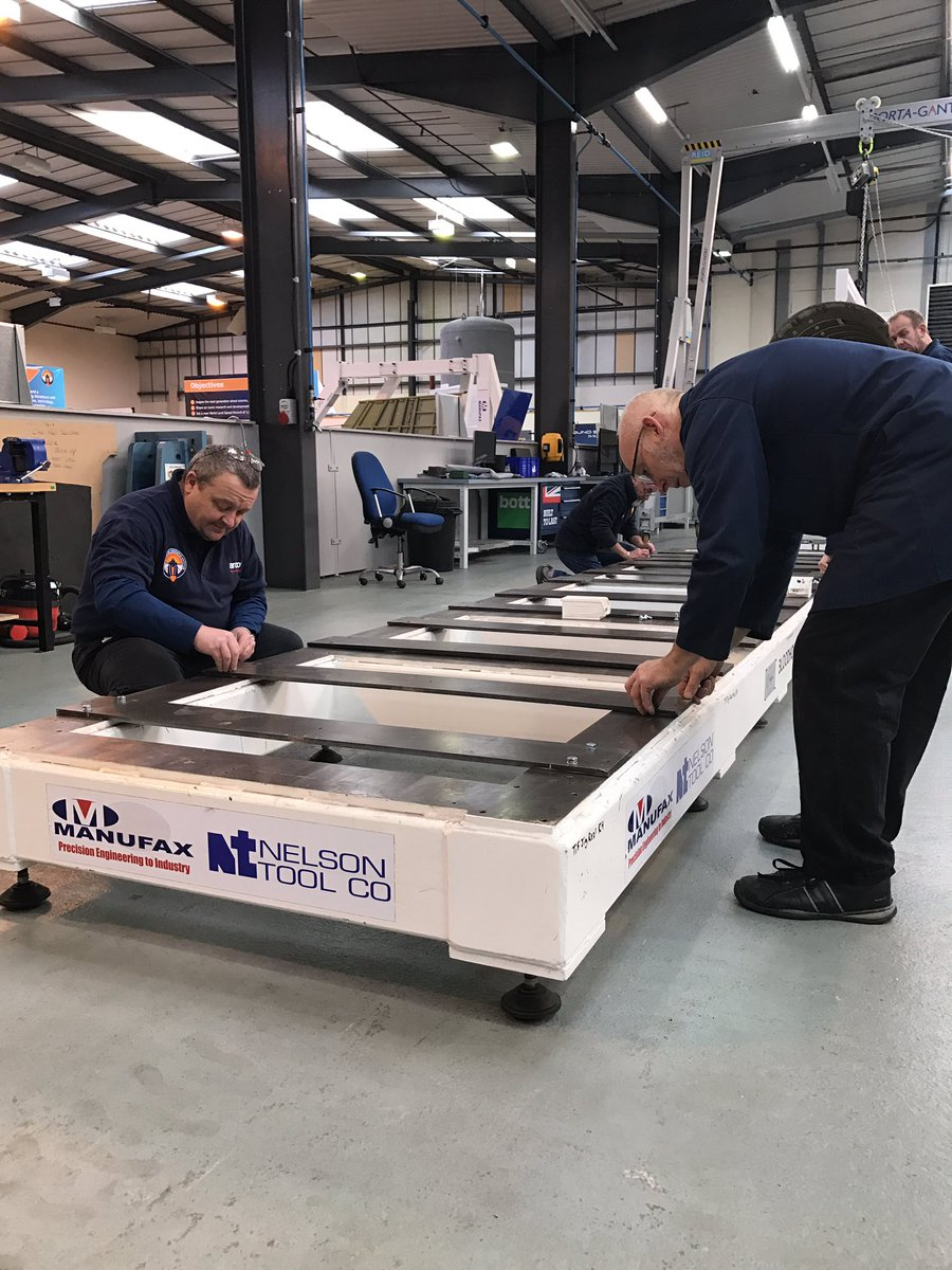 The team assembling the chassis in order for it to be sent to 3M. Photo by Bloodhound SSC on Twitter.