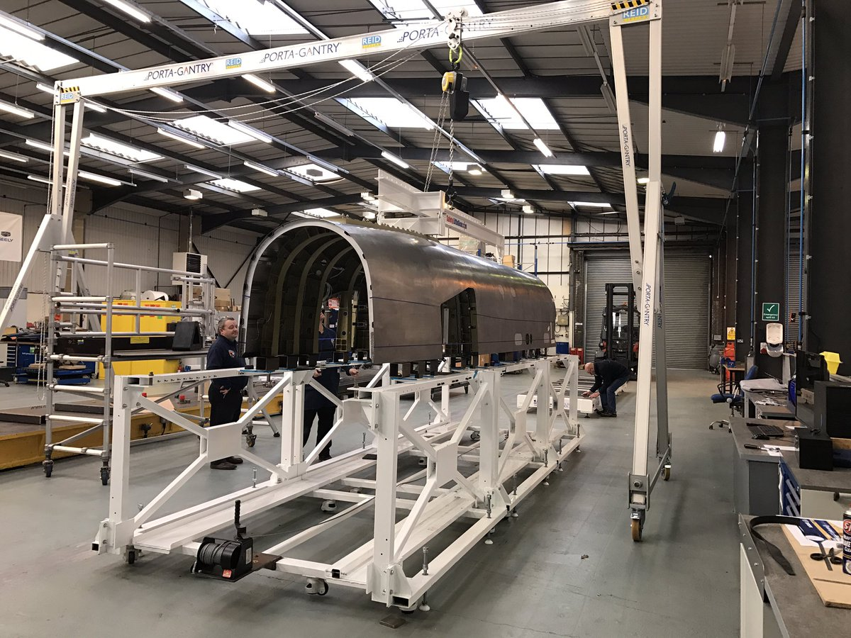 The upper chassis prior to its paintjob. Photo by Bloodhound SSC on Twitter.