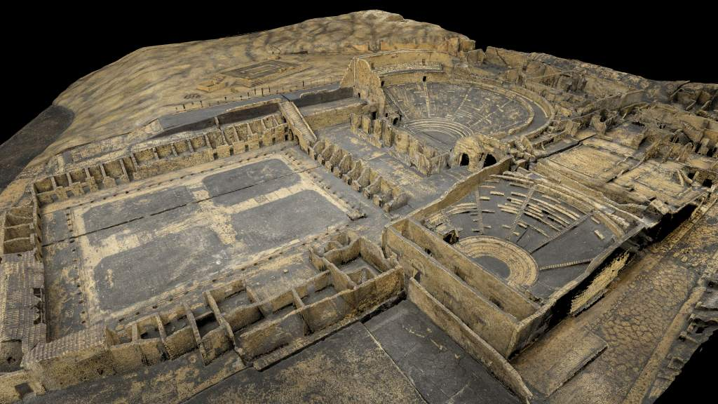 A 3D model of Pompeii by ScanLAB Projects. Image via: explore.soane