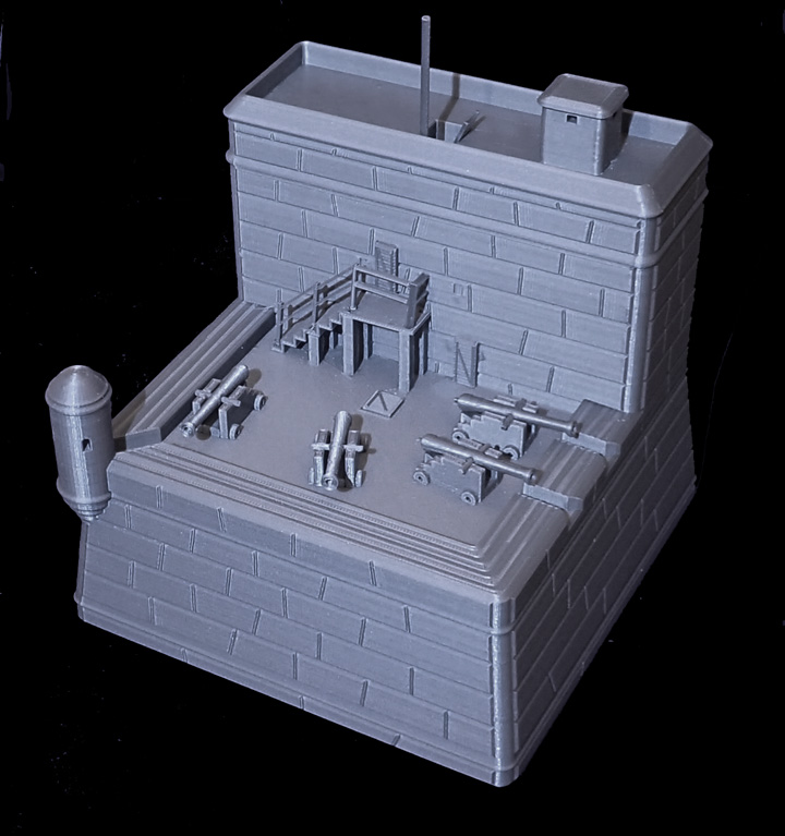 Don Foley's 3D printed Fort Manzas Photo via: Don Foley