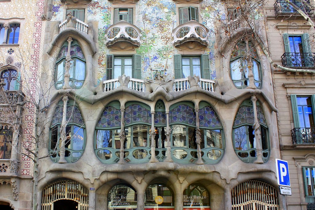 An inspired design. Photo above shows the facade of Gaudi's Casa Batllo, by: faustonadal on Flickr
