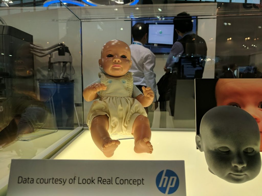 HP MJF on display at formnext 2016. Photo by Michael Petch
