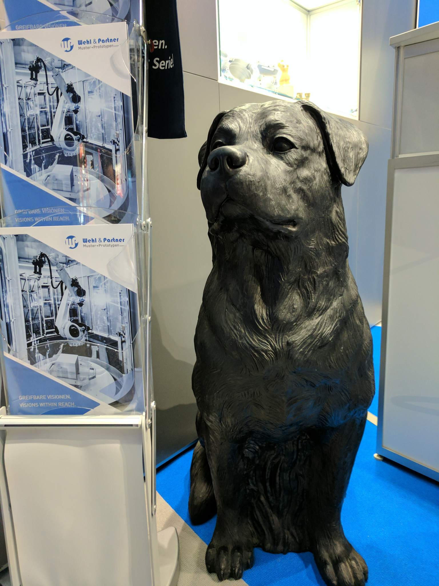 Wehl and Partner 3D printed rottweiler at formnext 2016. Photo by Michael Petch.
