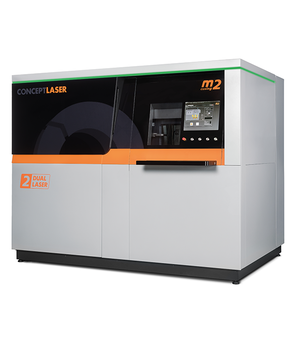 An M2 Cusing Multilaser machine, with separate process and handling chambers - taking a more ergonomic approach to metal printing. Photo via: Concept Laser