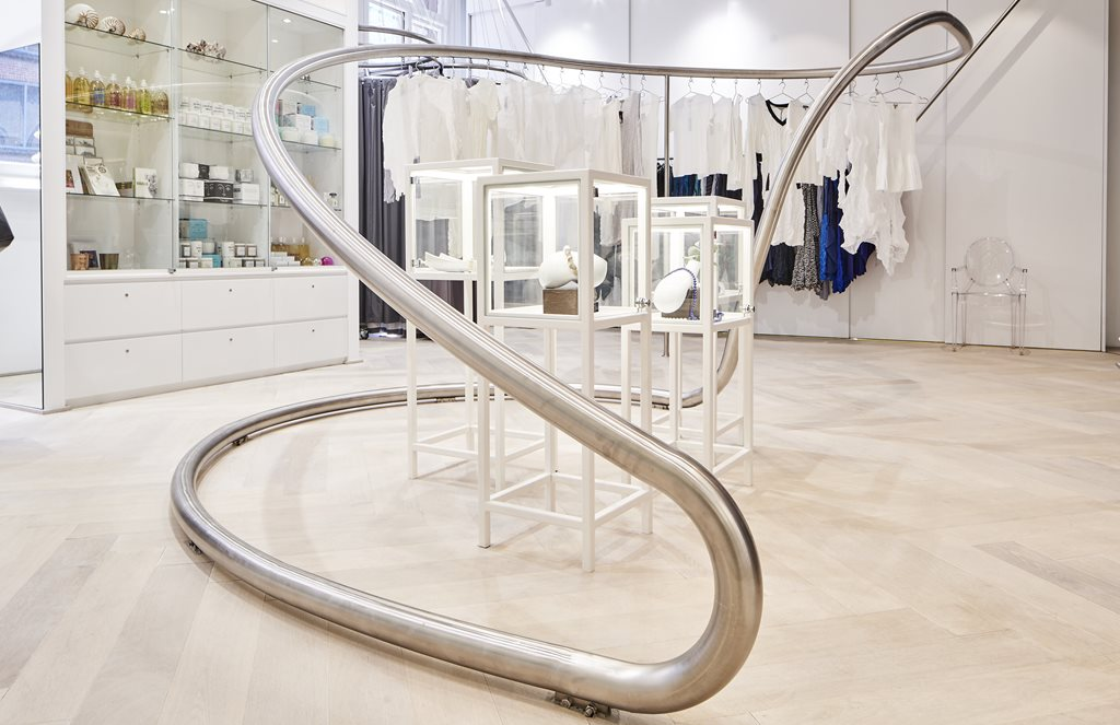 The final design which was fitted in-store. Image via Architecture and Design.