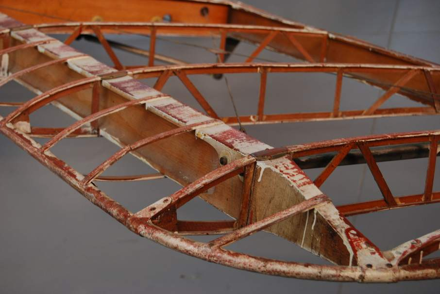 Construction spar of an airplane wing. Photo by wikipedia contributor Peripitus
