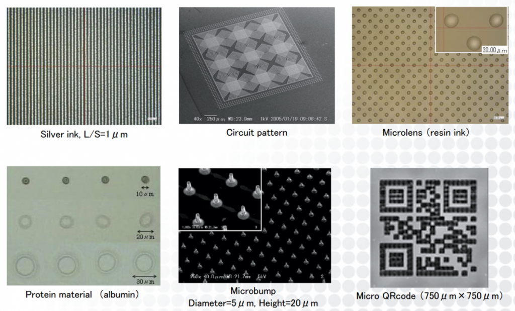 Image showing a number of materials that the printer claims to print. Image via PrintedElectronics.