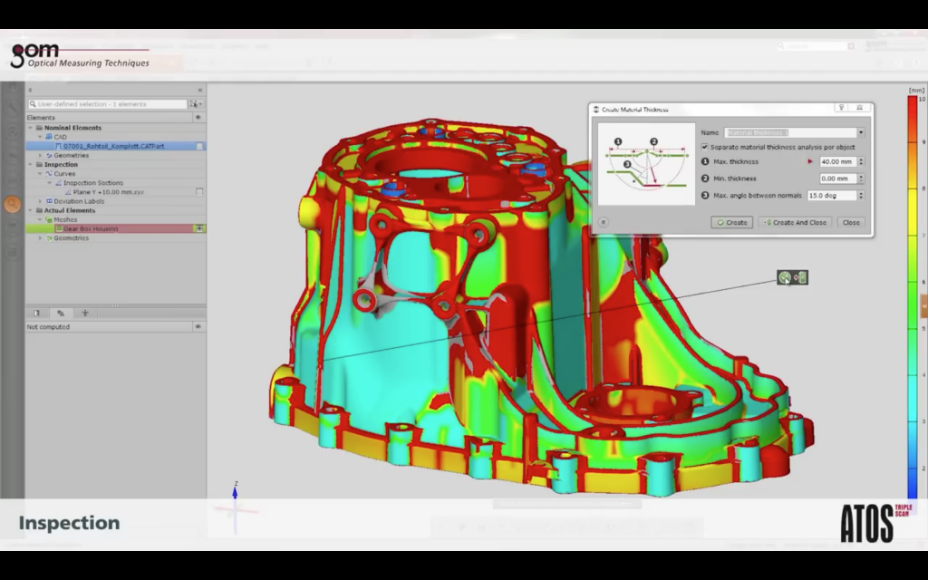 "An example of manipulating a 3D scan of a car part made by GOM""s ATOS device Screenshot via: GOM"