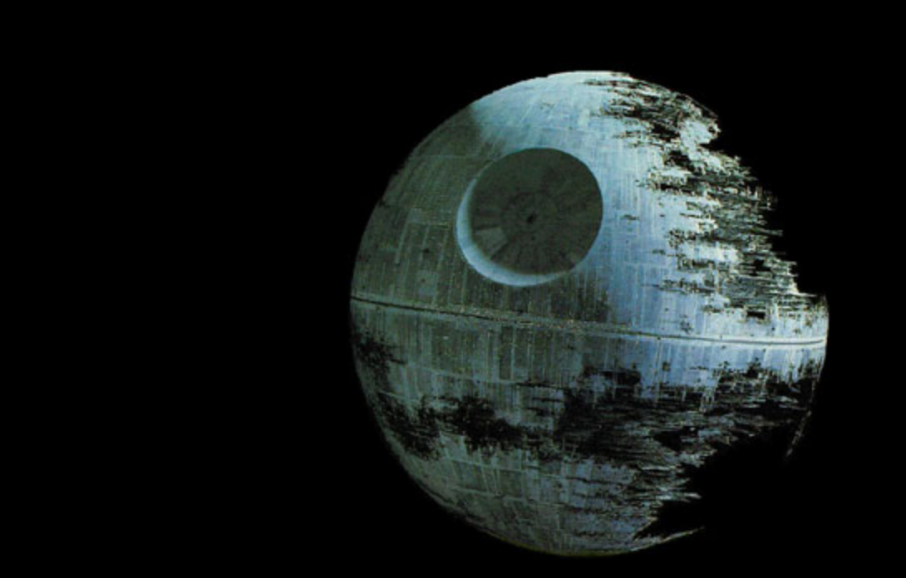 Screenshot of the Death Star seen in Return of the Jedi. All copyrights in regards to this image are held by Lucasfilm ltd. and/or its subsidiaries and as such are the property of said company. Via: Wikipedia contributor Melesse