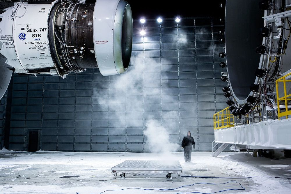 Testing the GEnx engine used in Boeing commercial airlines. Photo via GE Aviation