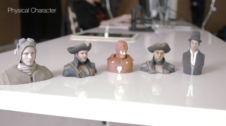 Wolfprint 3D physical characters. Image via Wolfprint 3D / Vimeo.