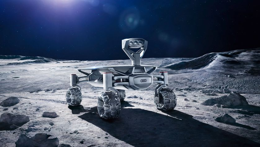 PT Scientists collaborate on Audi Lunar Quattro Rover. Image via Audi.